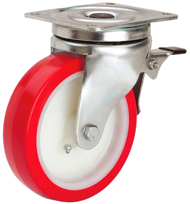 Industrial castors, swivel castors, furniture castors  Alex